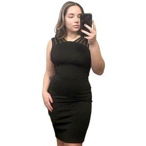 Black Dress with Mesh Details